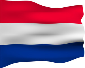 3D Flag of the Netherlands