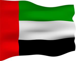 3D Flag of United Arab Emirates