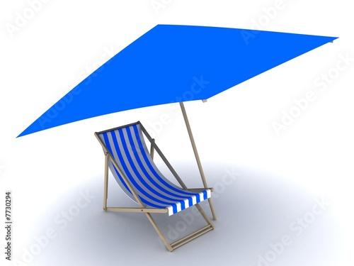 liegestuhl mit sonnenschirm von sebastian kaulitzki lizenzfreies foto 7730294 auf. Black Bedroom Furniture Sets. Home Design Ideas