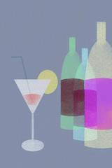 bebidas alcoholicas retro chic