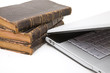 laptop and law books