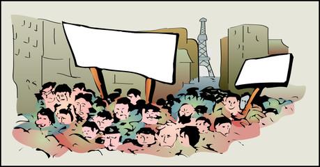 a0252 - Manifestation, mouvements sociaux, grèves