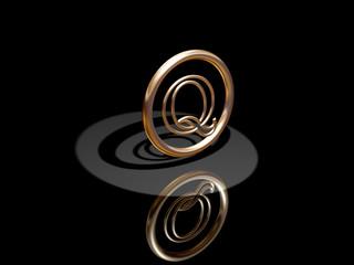 Gold Symvol Q