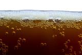 unfiltered dark beer with foam poster