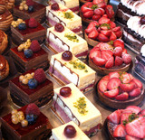 cake and pastry display