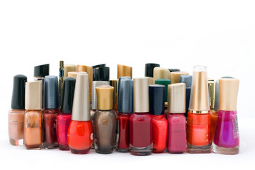 collection of nail polish