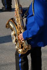 Street performer: Saxophonist