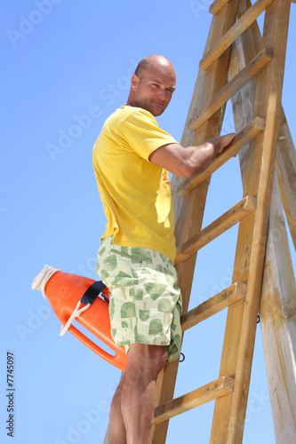 male lifeguard on duty