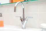 Stainless steel water faucet poster