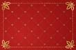 Vector illustration of red vintage frame