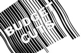 scanning barcode with words - budget cuts  poster
