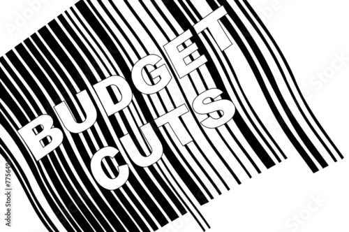 scanning barcode with words - budget cuts