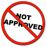 not approved symbol with words not approved  poster