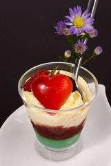 dessert aphrodisiaque fleuri
