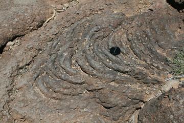 Ropey lava