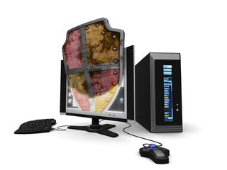 futuristic guarded computer