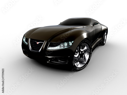 aggressive black concept car
