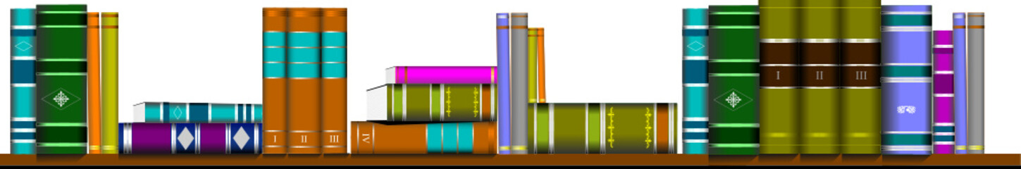illustration bookcase library furniture vector book