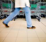 Supermarket buyer - Shopping carts poster