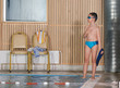 .children having fun at swimming pool