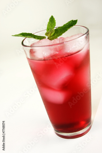 Refreshing Red Cocktail Beverage