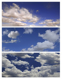 Multiple Cloudscapes For Editing Landscapes or Banners poster