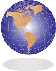 Vector Earth globe illustration