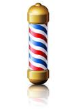 Enseigne du salon de coiffure rétro (reflet) poster