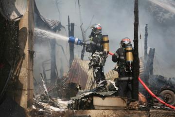 Fin d'incendie