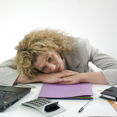 Businesswoman slouching