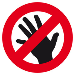 sign symbolising restriction of contacts