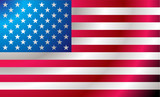 Illustrated us flag with ripples ideal background image poster