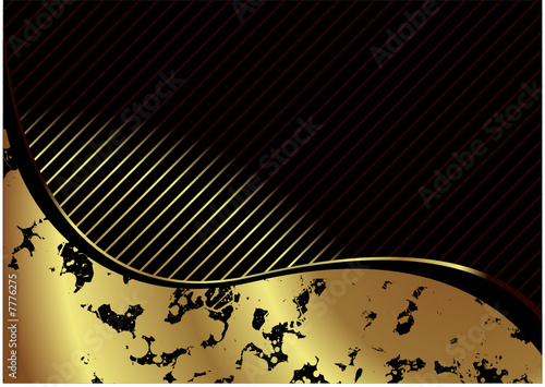 Illustrated golden background with room to add your own text