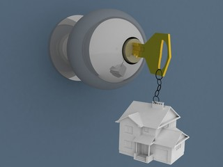 House on key