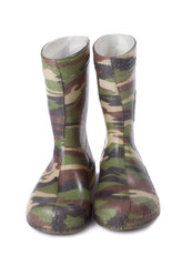 camouflage gum boots
