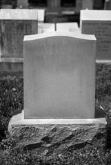 Blank Tombstone (B+W)