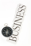 headline business and Compass poster
