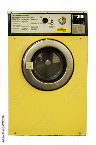 Old vintage coin-operated laundrette washing machine