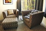 Armchairs with ottoman poster
