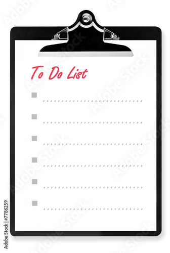 To Do List on Clipboard