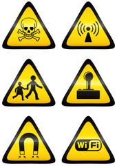 Collection de panneaux de danger (métal détouré)