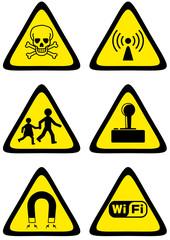 Collection de panneaux de danger (détouré)