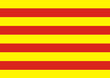 bandera de cataluña. señera de cataluña