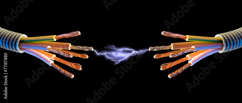 Leinwandbild Motiv electric contact