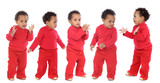 photographic sequence of a baby poster