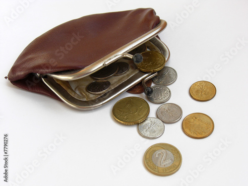 Retro purse with coins