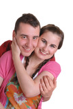 attractive affectionate young couple poster