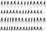 Business Man Frame Sequence Loops Run & Power Walk poster