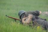 German soldier. WW2 re-enacting poster
