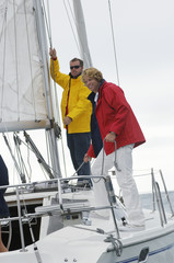 Two men on yacht